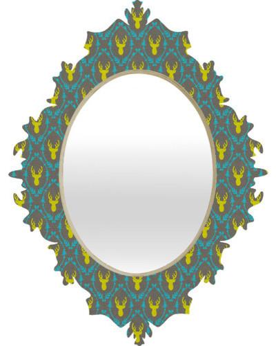 Bianca Green Oh Deer 3 Baroque Mirror modern-home-decor