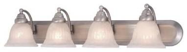 Vaxcel Brussels Bathroom Wall Light - 36W in. Brushed Nickel modern-wall-lighting