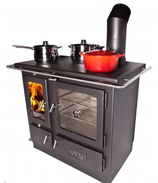 Ellis Wood Burning Cook Stove - Traditional - Freestanding Stoves - by Shop Chimney