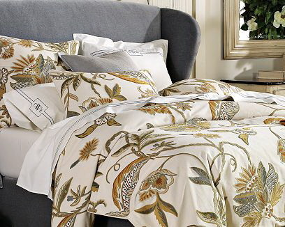 Crewel Bedding Atherton Duvet Cover Cotton Duck ,King traditional-duvet-covers
