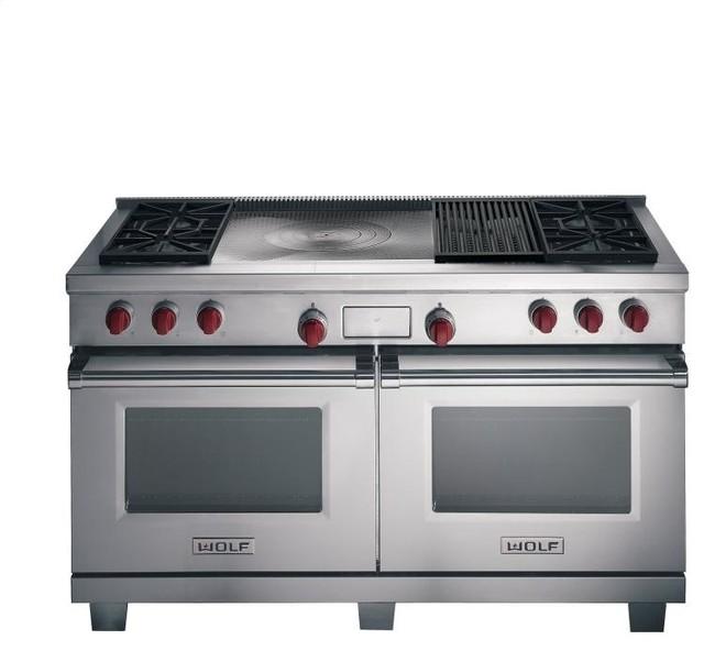 Double Oven Griddle ~ Wolf quot dual fuel range burners double griddle gas