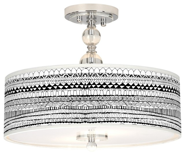 """Contemporary Mr. Kate Lines Black 16"""" Wide Ceiling Light contemporary-flush-mount-ceiling-lighting"""