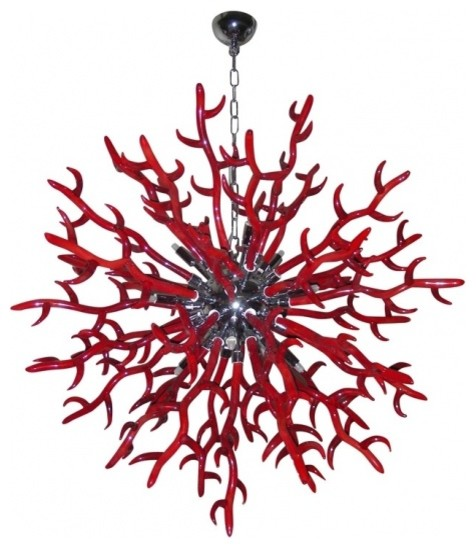 Red Murano Glass Chandelier – Chandeliers Design:Red Murano Gl Chandelier Rose,Lighting