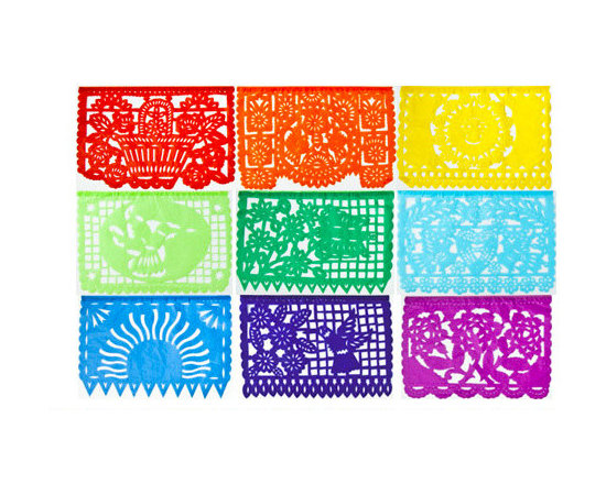 Multicolor Mexican Party Banner -