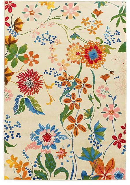 Dershyl Ivory Floral Rug eclectic-kids-rugs