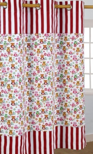 Owls Printed Ready Made Curtains - Modern - Curtains - other metro - by Homescapes Europa Ltd