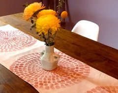 Giant Chrysanthemum Table Runner by Tulusa Home Goods modern-tablecloths