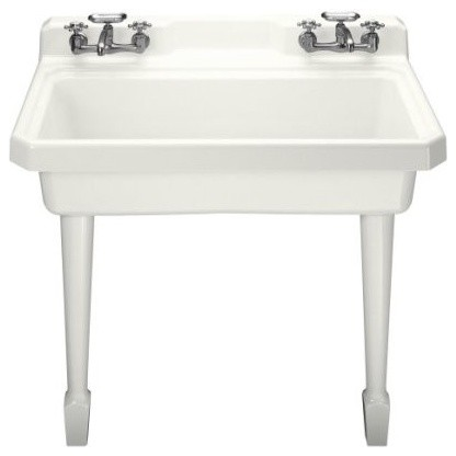 Laundry Sink Wall Mount : ... Wall-Mount Utility Sink with Four-H - Traditional - Utility Sinks - by