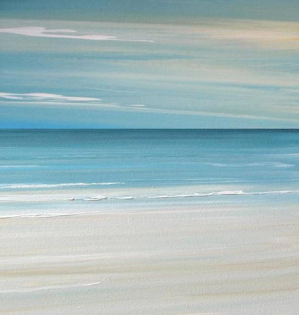 Contemporary Beach art - Beach tropical Painting - Beach art tropical-artwork