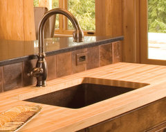 Cocina Grande Copper Kitchen Sink by Native Trails traditional kitchen sinks