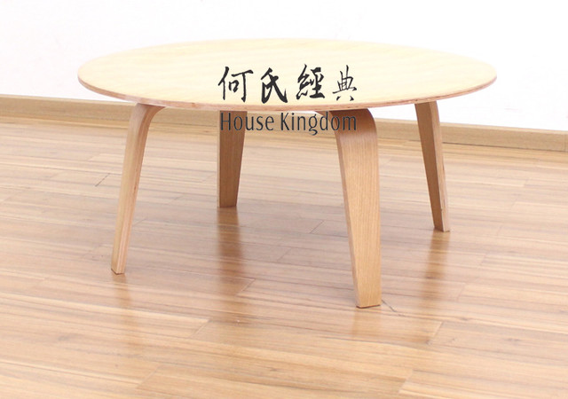 Eames style molded plywood coffee table modern coffee for Eames style coffee table