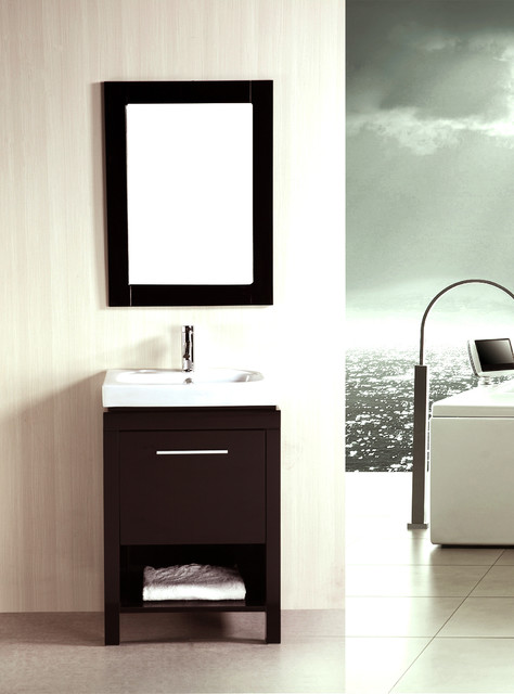 kokols 24-inch Single Free-standing Bath Cabinet with ...