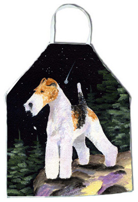 Starry Night Fox Terrier Apron aprons