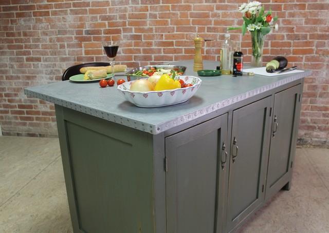Zinc Top Kitchen Island Modern Kitchen Islands And Kitchen Carts Boston By