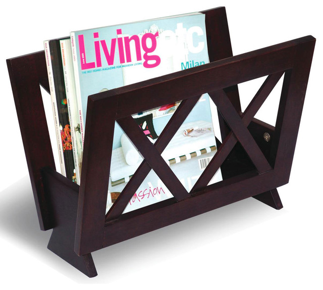 Cappuccino magazine rack modern racks by