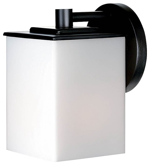 "Contemporary Philips Midnight Collection 7"" Square Black Outdoor"