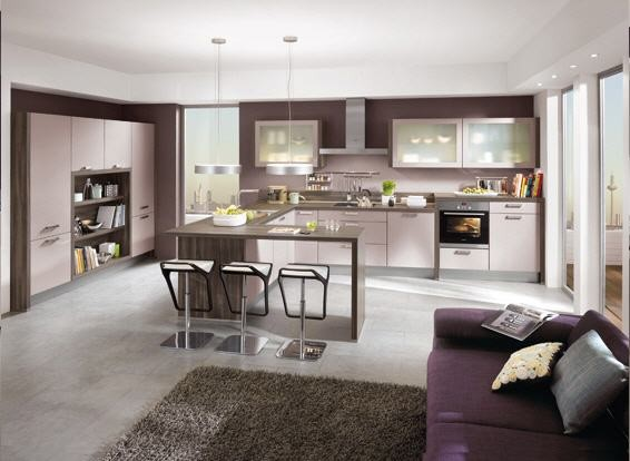 Modern Spacious Living Kitchen Modern Kitchen Cabinetry