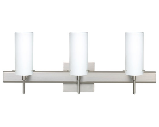 Copa 3 Vanity Light Opal Matte Glass - Contemporary vanity light. Can be mounted upwards or downwards.