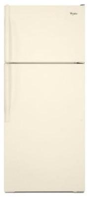 Whirlpool Refrigerator. 15.9 cu. ft. Top Freezer Refrigerator in Biscuit W6TXNWF contemporary-refrigerators-and-freezers