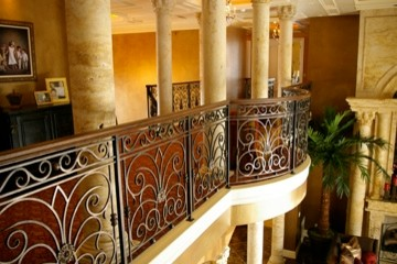 Entry Stair and Railing #1 mediterranean-staircase
