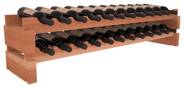 24 Bottle Scalloped Wine Rack in Redwood contemporary-wine-racks