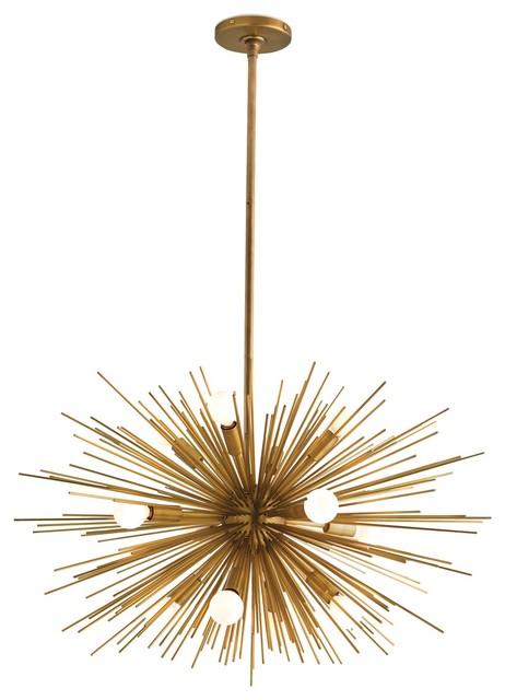 Arteriors Zanadoo 12L Iron Chandelier eclectic-chandeliers