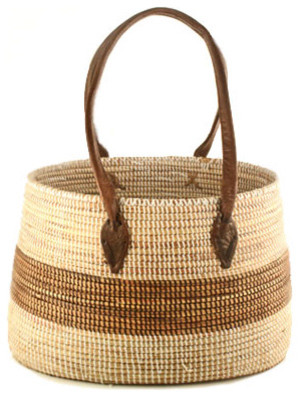 African Market Basket with Handles traditional-baskets
