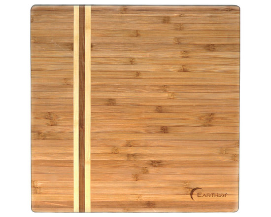 """Berghoff - Berghoff Large Bamboo Chopping Block - Bamboo is the top candidate to replace wood due to it's rapid growth, Earth Friendly Product, Juice well to prevent overflow and messes, Great for carving meats, This bamboo item is treated with food grade mineral oil. Measure 14"""" x 14"""" x 1 1/3""""."""