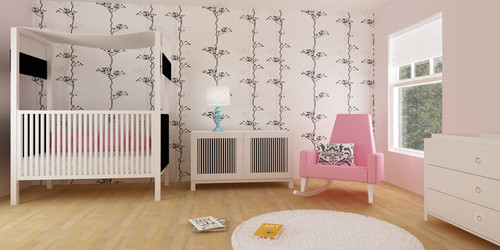 wall stickers on single color walls, wall decals for baby nursery