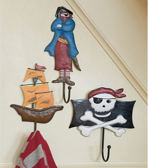 Pirate wall hooks contemporary wall hooks by the company store - Kids decorative wall hooks ...