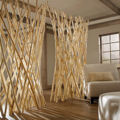 Natural room divider Decorative hanging room dividers