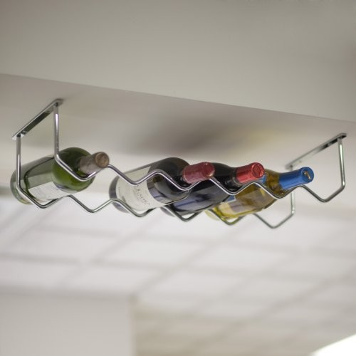 Under Cabinet Chrome 6-Bottle Wine Rack - Contemporary - Wine Racks ...