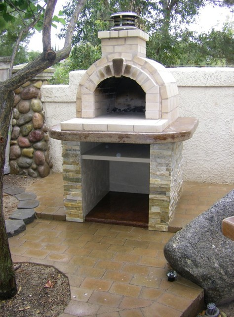 The schlentz family diy wood fired brick pizza oven by brickwood ovens modern san diego by - How to build an outdoor brick oven ...