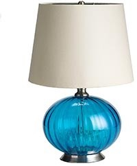 Pier 1 Imports - Product Details - Turquoise Glass Lamp eclectic-bathroom-vanity-lighting