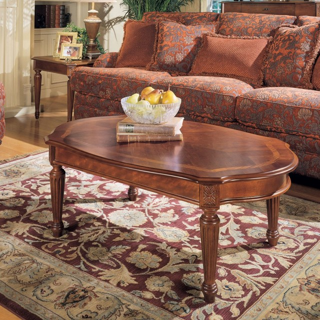 Magnussen 13800 Sedona Wood Oval Coffee Table Traditional Coffee Tables By Hayneedle