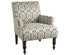 Liliana Chair, Teal Ironwork contemporary-armchairs-and-accent-chairs