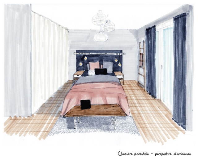 Chambre parentale contemporary other metro by for Chambre parentale