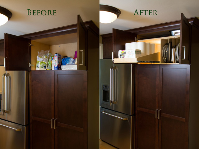 Sloped Pull Out Shelves and Tray Dividers - Kitchen Drawer Organizers - seattle - by ShelfGenie ...