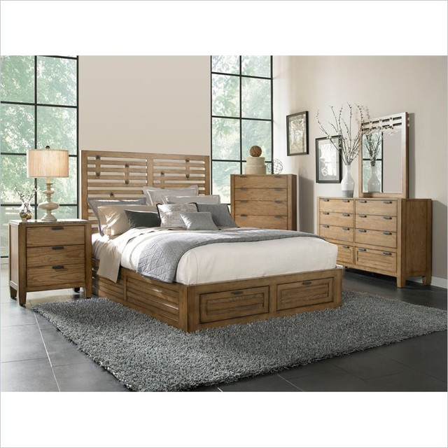 broyhill ember grove storage bed 5 pc bedroom set in