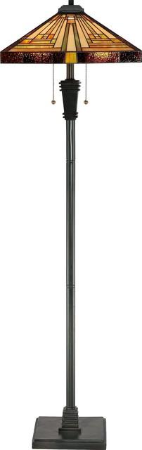Quoizel TF885F Stephen Tiffany Floor Lamp craftsman-floor-lamps