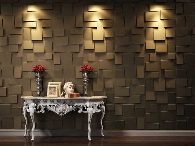 3D WALL PANELS(Blocks) - contemporary - wallpaper - vancouver - by ...