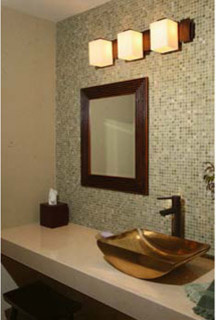 Zen Powder Room eclectic powder room