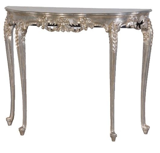 Verona Silver Hall Console Table traditional side tables and accent tables