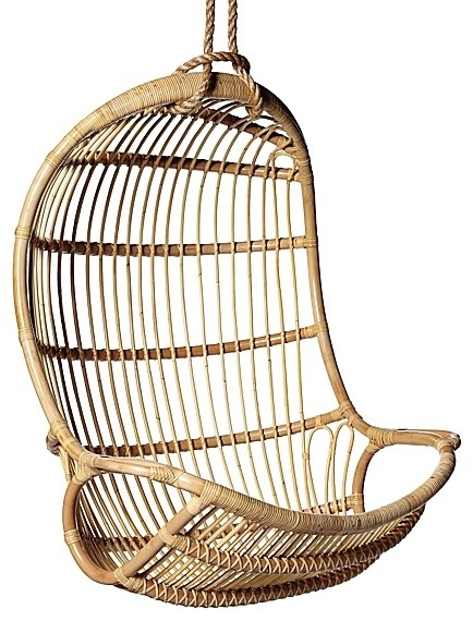 Hanging Rattan Chair Contemporary Outdoor Lounge Chairs by Serena &
