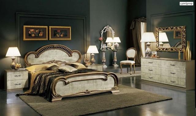 Italy Wood Luxury Elite Furniture Set Traditional Bedroom Furniture