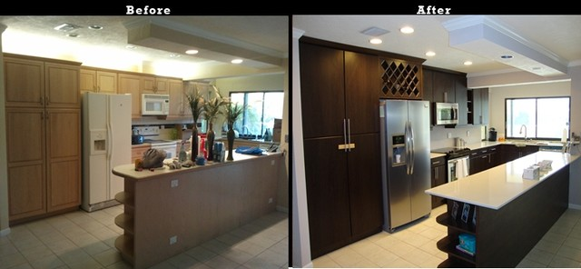 Kitchen Cabinet Refacing of Marco Isalnd traditional