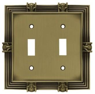 Liberty Hardware W102ZMC-SBA-U Pineapple WP Collection 5.2 Inch Switch Plate modern-switchplates