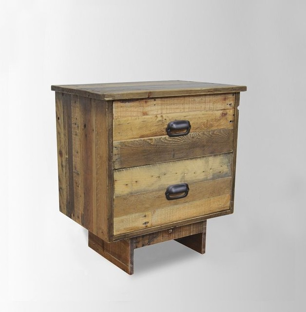 Mixed wood nightstand contemporary nightstands and for Modern bedside tables nightstands