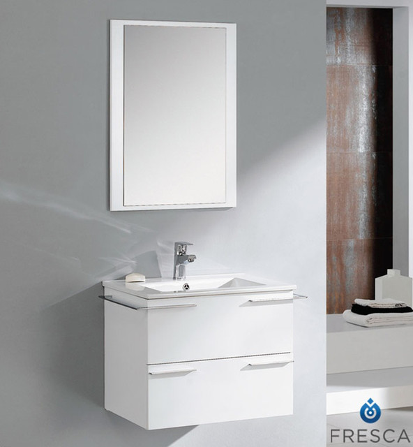 24 inch white modern bathroom vanity with mirror contemporary bathroom