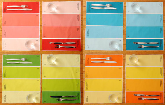 Paint Chip Placemats by Avril Loreti modern-placemats